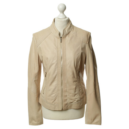 Arma Leather jacket in sand