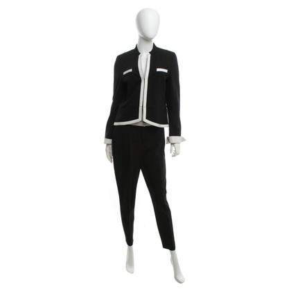 St. Emile Tailleur pantalone in bianco / nero