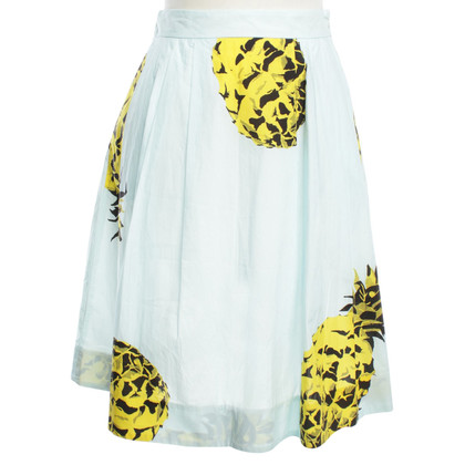 MSGM skirt with pineapple motif