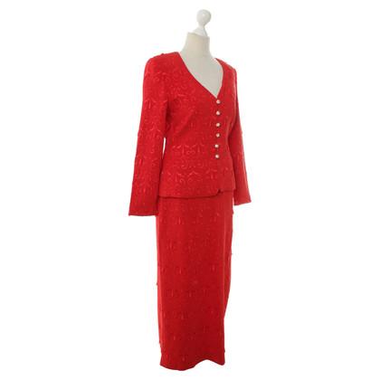 Escada Kostuum rood