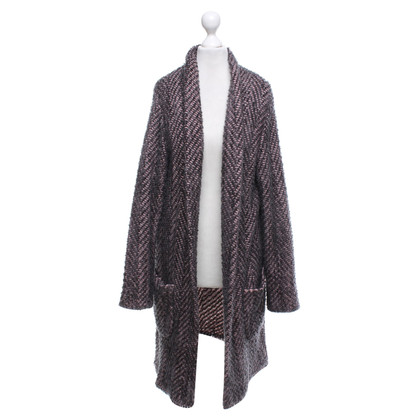 Marc Cain Knitted coat in pink / grey
