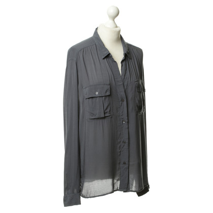 James Perse Blouse in blue grey
