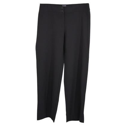Armani Collezioni Wollen broek in zwart
