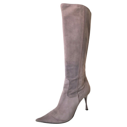 Casadei Suede Boots in Lilac