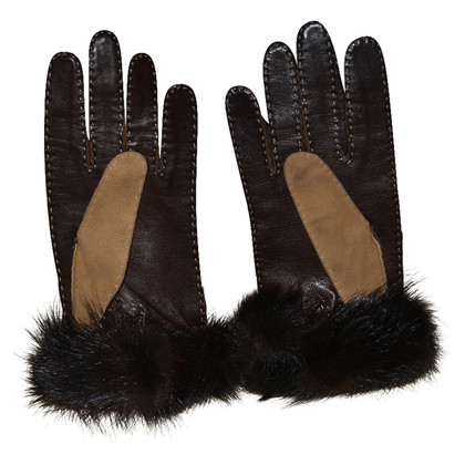 Loewe Fur & leather gloves