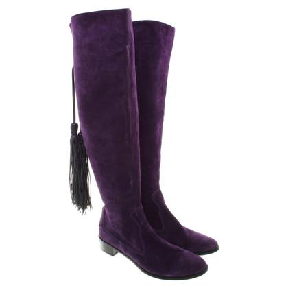 Russell & Bromley Suède laarzen in purple