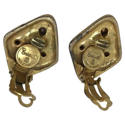 Chanel orecchini vintage in metallo dorato