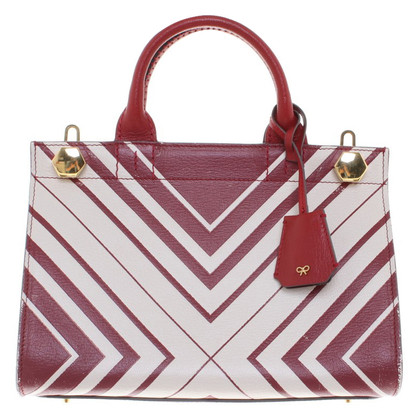Anya Hindmarch Handbag in red / white