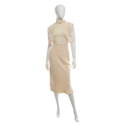 Self-Portrait Kleid in Creme
