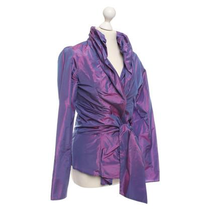 Etro Zijden Blazer in Purple