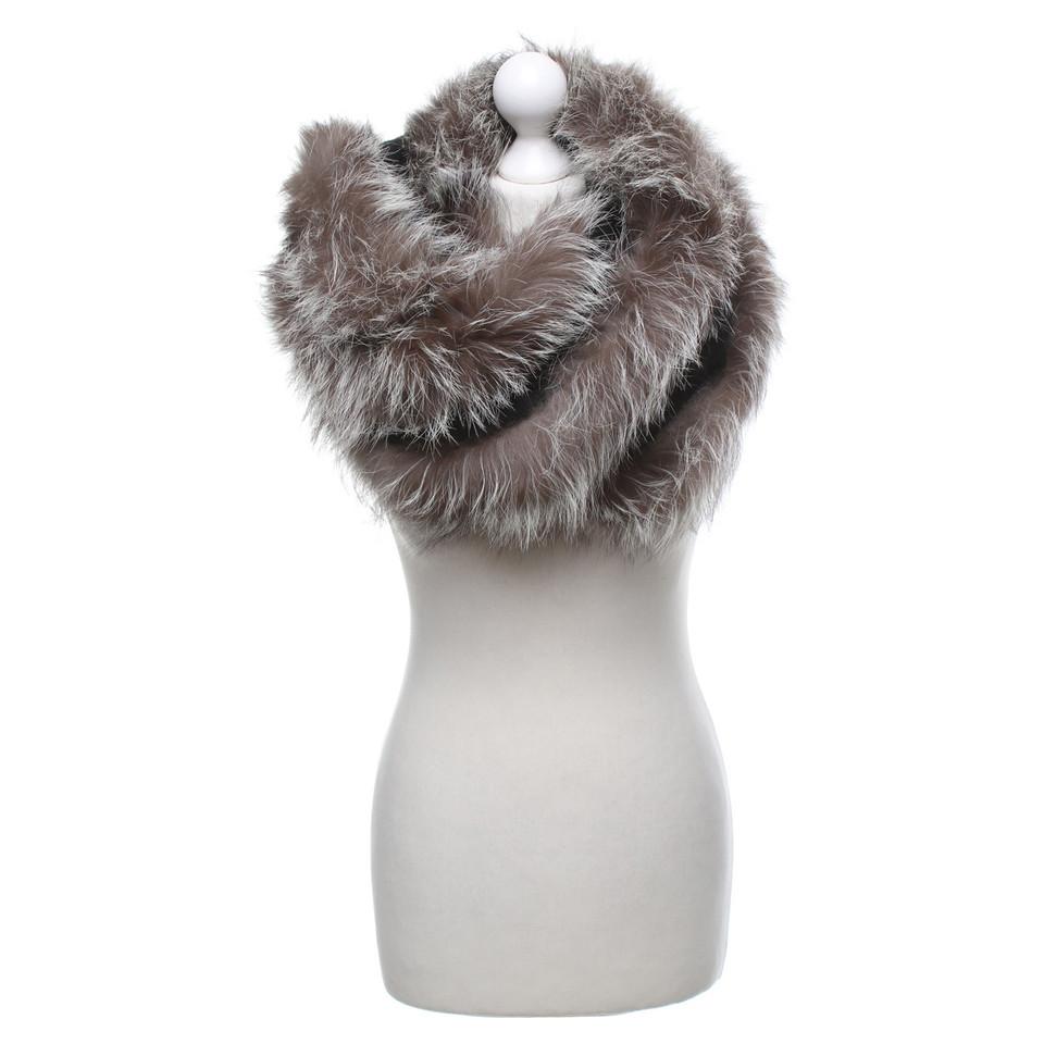 Other Designer Cashmere stole with fur trim