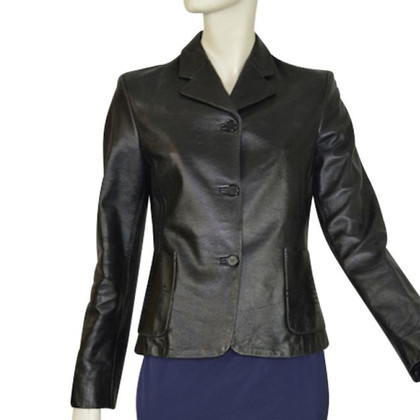 Rena Lange Leather Blazer