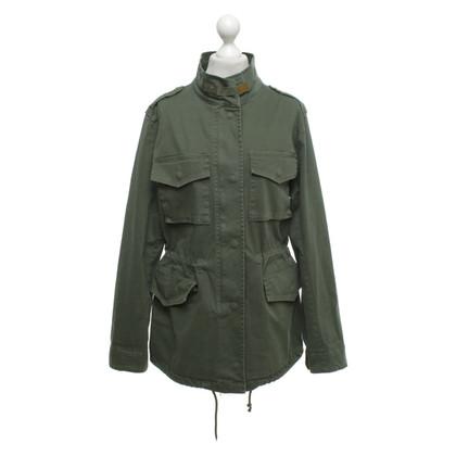 Camouflage Couture Katoenen jas in groen