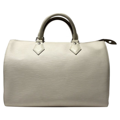 "Louis Vuitton ""Speedy 35 EPI leather"" in crème"