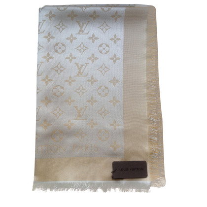 Louis Vuitton Monogram-shine cloth in beige/gold