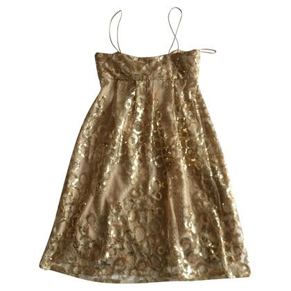 Blumarine Kleid in Gold mit Spitze