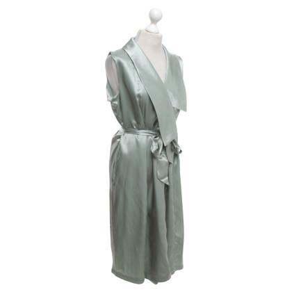 Iris & Ink Wrap dress in mint green