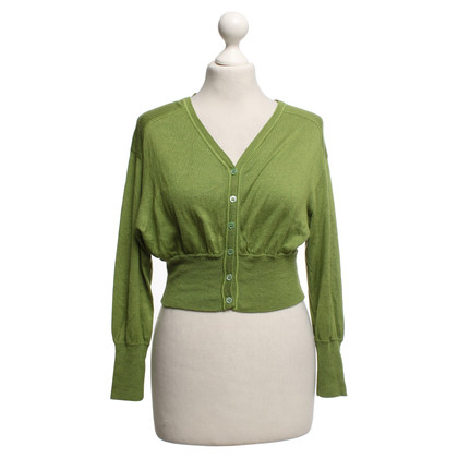 Philosophy di Alberta Ferretti Lime green knit jacket
