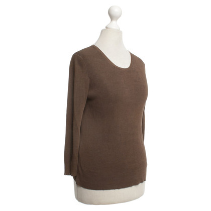 Jil Sander Silk sweater in brown