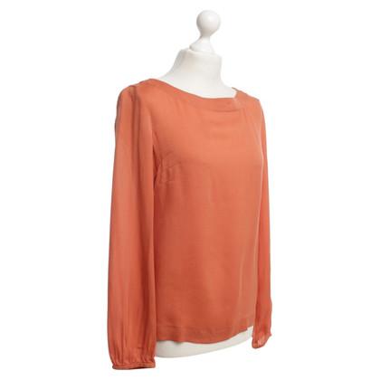 Escada Zijden blouse in Orange