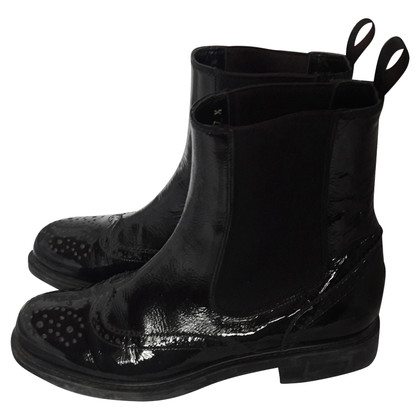 Pollini Patent leather ankle boots