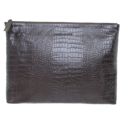 René Lezard clutch con rettile embossment
