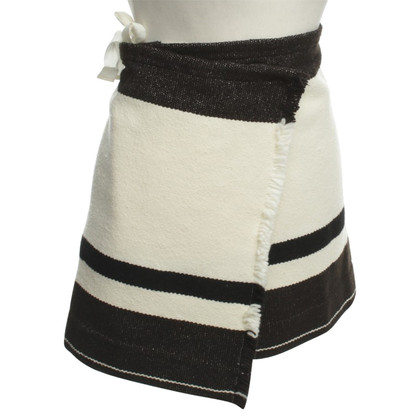 Isabel Marant Wrap-around skirt with striped pattern