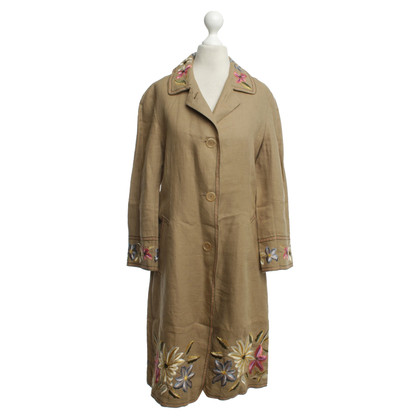DKNY Linen jacket with embroidery
