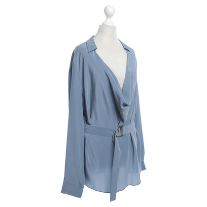 Max & Co Silk blouse in blue gray