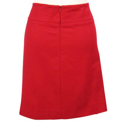 Hobbs Wool skirt in red