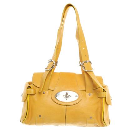 Hugo Boss Leather handbag in yellow