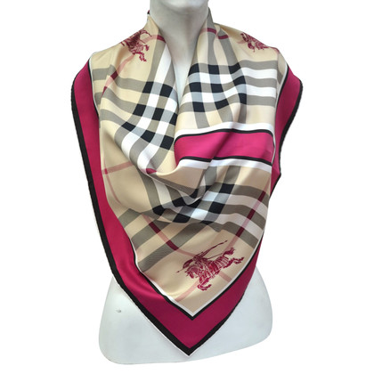 Burberry sciarpa di seta motivo di controllo Nova