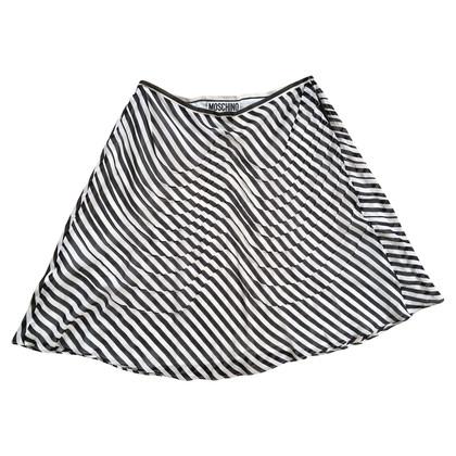 Moschino Schwingender Rock aus Seidenchiffon