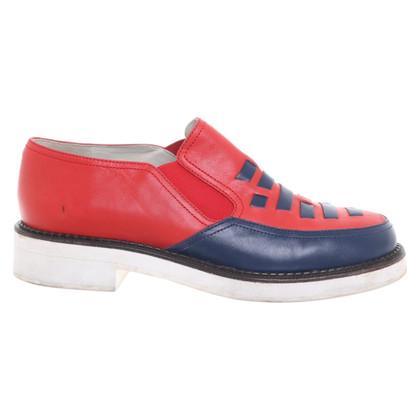 Jil Sander Slipper in rosso / blu