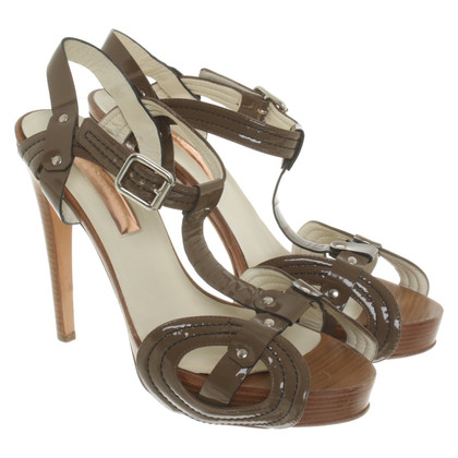 Rupert Sanderson Patent leather sandals