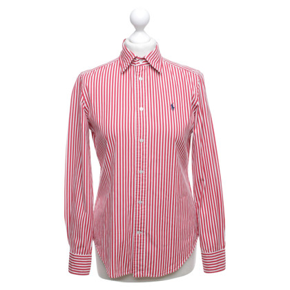Ralph Lauren Gestreepte blouse in rood / wit