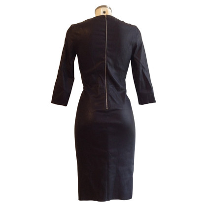 Jitrois Leather dress in Navy