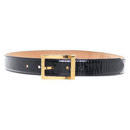 MCM Cintura con motivo in rilievo