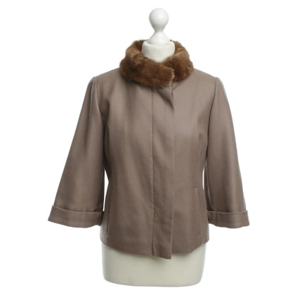 Schumacher Short jacket with mink fur collar