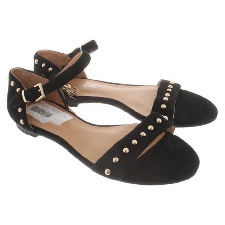 Armani Sandalen aus Wildleder Schwarz
