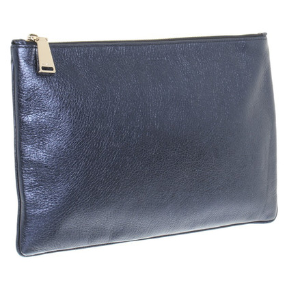 Jil Sander Clutch in Blau