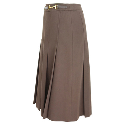 Céline Celine vintage wool brown skirt