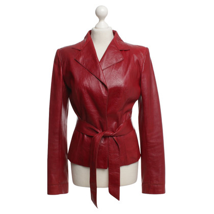 Dolce & Gabbana Leather jacket in red