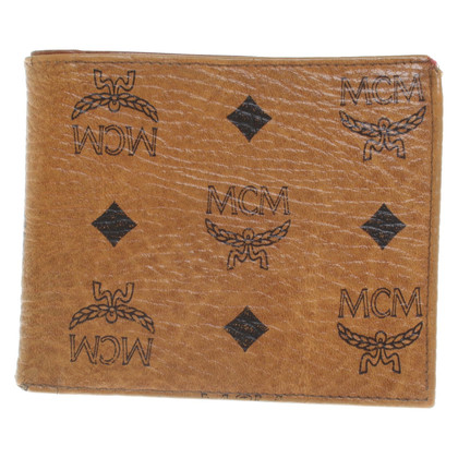 MCM Portemonnaie mit Logo-Muster