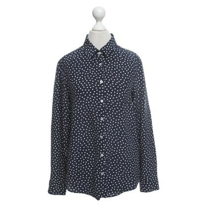 Max Mara Silk blouse with dot pattern