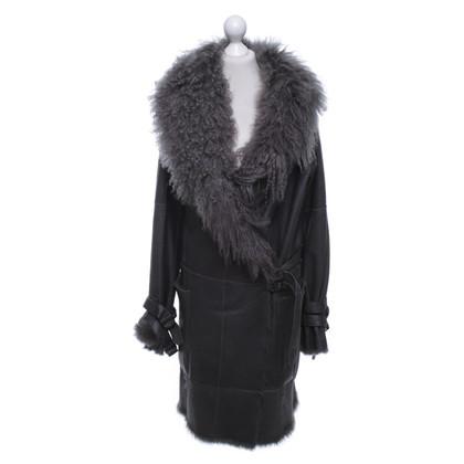 Plein Sud Fur coat in grey