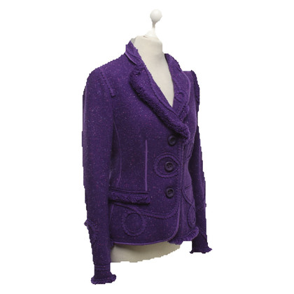 Moschino Cheap and Chic Woll-Blazer in Violett