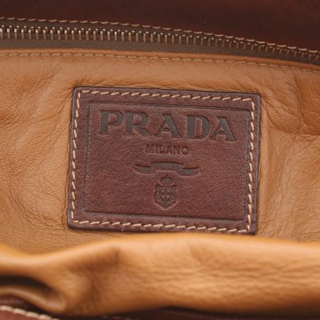 Prada Handtasche in Braun Braun Frei Für Verkauf wBlk2