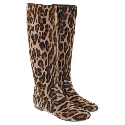 Giuseppe Zanotti Stivali con stampa leopardo