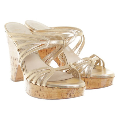 Christian Dior Sandals in Gold
